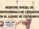 Registre Oficial de Professionals de l'Educació en el Lleure de Catalunya